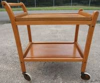Tea Trolley Teak Retro 1960's Two Tier Removable Trays - SOLD